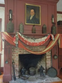 American patriotic hearth decorations