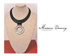 Collar/Necklace INTI #shine #style #fashion #collection #leather #maisondomecq #woman