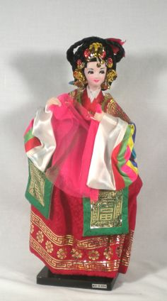 Vintage Traditional Korean Silk Doll