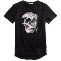 William Rast Men's Jim 2.0 Skull Cotton T-Shirt ($30) ❤ liked on Polyvore featuring men's fashion, men's clothing, men's shirts, men's t-shirts, sliced skull black, mens cotton shirts, mens cotton t shirts, mens skull t shirts, mens t shirts and mens skull shirts