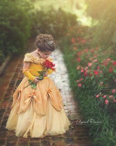 Belle inspired princess dress size 5 ball gown by primafashions Belle Ballgown, Belle Dress, Princess Shot, Little Princess, Beauty And The Beast Party, Princess Pictures, Baby Kind, Girl Photos, Baby Dress