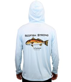 9-Spot Redfish Strong Performance Fishing Hoodie