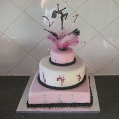 Pole dancer silouette cake