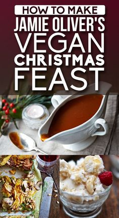How To Make A Delicious Vegan Christmas Feast, With Jamie Oliver - Jamie has several delicious looking vegan recipes on his site in the special diet recipe section! Check it out! Vegan Foods, Vegan Dishes, Paleo Vegan, Vegan Roast, Raw Vegan, Vegan Desserts, Vegan Cru, Vegetarian Recipes, Healthy Recipes