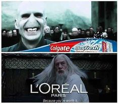 These ads starring Voldy and Gandalf. | 33 Harry Potter Jokes Even Muggles Will Appreciate