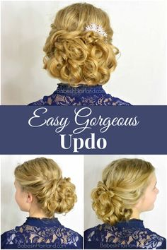 Easy Gorgeous Updo Tutorial from BabesInHairland.com #updo #hairstyle #curls #braids