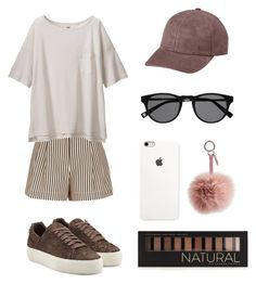 """""""BROWN OUTFIT """" by lofites ❤ liked on Polyvore featuring 3.1 Phillip Lim, Helmut Lang, Uniqlo, Fendi, Vianel and Forever 21"""
