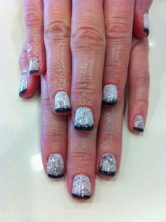 White and black French fade shellac