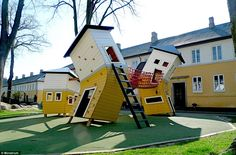 Giant spiders, wobbly castles, and rocket ship slides: Introducing the best children's playgrounds in the world.