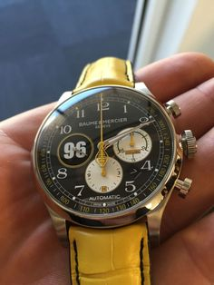 Big Watches, Watches For Men, Pocket Watches, Baume Mercier, Custom Design Shoes, Custom Boots, Driving Gloves, Yellow Leather, Leather Accessories