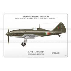 """Re.2005 """"Sagittario"""" 4 RSI CC-47 Ww2 Aircraft, Military Aircraft, Italian Air Force, Luftwaffe, Illustrations And Posters, World War Ii, Wwii, Fighter Jets, History"""