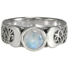 Triple Crescent Moon Goddess Rainbow Moonstone Ring Sterling Silver... (3.645 RUB) ❤ liked on Polyvore featuring jewelry, rings, accessories, bracelets, fillers, trio rings, sterling silver jewelry, sterling silver jewellery, sterling silver rings and rainbow moonstone ring