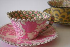 Fabric Tea Cup