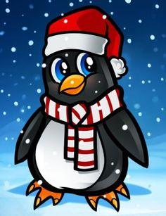 Pinguin zeichnen - Schritt für Schritt-dekoking-com
