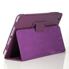 This unique and elegant leather case for iPad Mini can protect it from scratches, dust, fingerprints and other daily damages. It is shock-absorbent, which can keep your iPad free from dust and bumps. Simple and elegant in style while prevents scratches and dings without adding a lot of bulk. The built-in stand will let you type with ease. Simply fold the case under iPad Mini and type to your hearts content. It's really a good choice for your beloved iPad Mini.    Brand New and high quality…