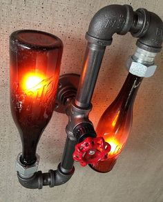 New Wine Old Bottles: lighting by Peared Creation | Please subscribe to my weekly newsletter at upcycledzine.com ! #upcycle