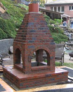 Great Fireplace Idea for the Backyard