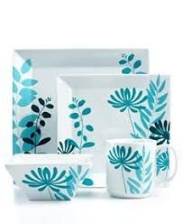 Turquoise floral dishes - love these! Pottery Painting Designs, Pottery Designs, Paint Designs, China Painting, Ceramic Painting, Ceramic Art, Painted Plates, Hand Painted Ceramics, Pottery Plates