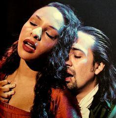 Jasmine Cephas Jones as Maria Reynolds and Lin-Manuel Miranda as Alexander Hamilton in Hamilton: The Revolution
