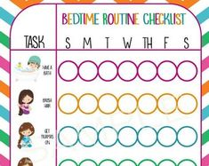 Printable Morning Routine Checklist girl | Etsy Morning Routine Checklist, Bedtime Routine, Bedtime Chart, Happy Panda, Routine Chart, How To Apply, How To Get, Dry Erase Markers, Printed Materials
