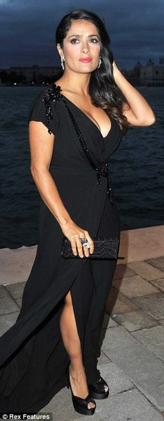 45-year-old Salma Hayek at the Gucci Award for Women in Cinema event which is part of the 69th Venice Film Festival.