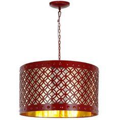 A&B Home 3 Light Drum Chandelier - http://chandelierspot.com/ab-home-3-light-drum-chandelier-603433768/