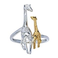 beautiful mother and child giraffe ring