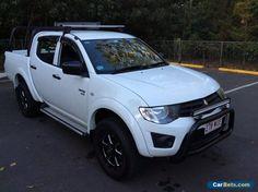 2013 Mitsubishi Triton MN MY13 GLX (4x4) White Manual 5sp M #mitsubishi #triton #forsale #australia