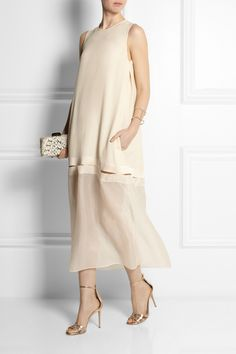 Stella McCartney | Jordan crepe and silk-organza dress