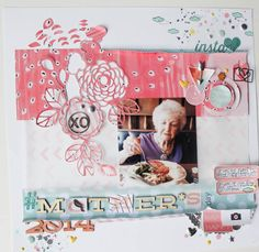 #papercraft #scrapbook #layout. Mother's Day 2014 by Jil at @studio_calico