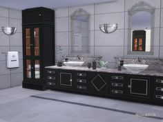 Contemporary Bathroom Furniture inspired by Clive Christian - Part of the CliveC Series  Found in TSR Category 'Sims 4 Bathroom Sets'