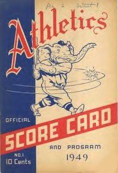 1949 Athletics Score Card and Program Baseball Scores, Twins Baseball, Baseball Posters, Baseball Training, Dodgers Baseball, Sports Baseball, Baseball Stuff, Baseball Movies, Baseball Tickets