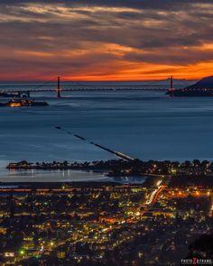 San Francisco at night by @photoz2frame by San Francisco Feelings
