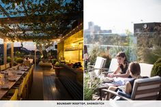 Boundary hotel's rooftop terrace, Shoreditch