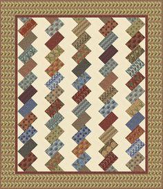 Brickwork in Morris Modernized: Free Pattern from Moda: http://www.unitednotions.com/fp_morris-modernized.pdf