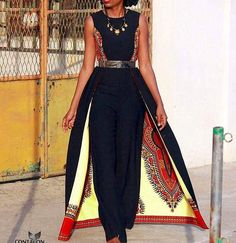Combo African Jumpsuit by Africandressshop on Etsy