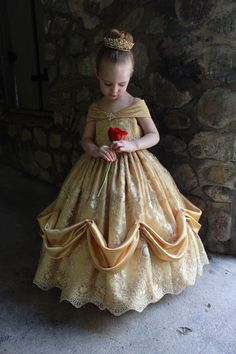 Beauty And The Beast Flower, Beauty And The Beast Wedding Dresses, Wedding Flower Girl Dresses, Little Girl Dresses, Belle Ballgown, Toddler Dress, Toddler Girls, Disney Princess Dresses, Kids Frocks