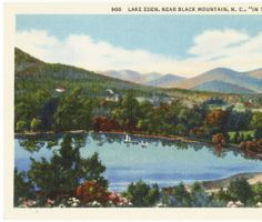 "Lake Eden, Near Black Mountain, N.C. ""In the Land of the Sky"" :: North Carolina Postcards"