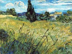 Van Gogh, Campo verde di grano, 1889