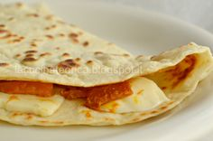 Piadina farcita con Zucca e Scamorza - piadina filled with pumpkin and scamorza cheese