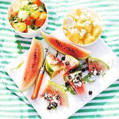 Recept - Watermeloen met witte kaas - Allerhande
