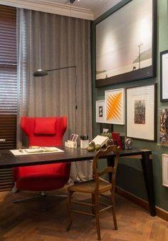 Home Office lindo assinado por Patrícia Hagobian na Casa Cor São Paulo 2016.