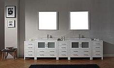 99 & Up Virtu Dior bathroom vanity Modern Vanity, Modern Bathroom, Free Standing Vanity, Bathroom Vanities, Double Vanity, Home Remodeling, Dior, Funky Bathroom, Dior Couture