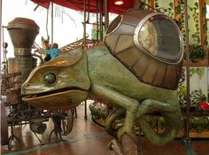 My Daily Favorite - Steampunk Carousel! In Brussels... and there's a VIDEO!