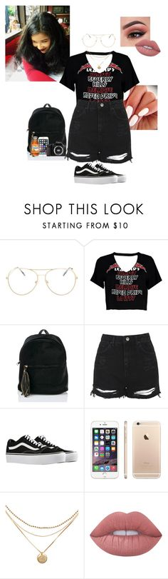 """Happy Tuesday!☺️✨"" by treasurematlock ❤ liked on Polyvore featuring Topshop, Boohoo, Vans, Eos, Too Faced Cosmetics and Lime Crime"