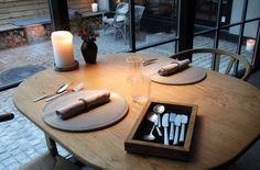 Kay Bojesen Grand Prix cultery at the Michelin restaurant Kadeau in Copenhagen. Restaurant Ideas, Danish Design, Cutlery, Grand Prix, Copenhagen, Interior, Home Decor, Restaurants, Ground Covering