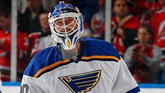 Martin Brodeur. His first win as a St. Louis Blue. Sea of red in the background. December 6, 2014.