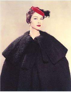 Nancy Berg photographed by Erwin Blumenfeld, New York 1954.
