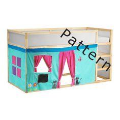 Bed Playhouse Pattern / Kura bed playhouse / por CreativePlayShop