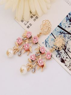 Spring Floral Acrylic Earring